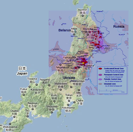BBC Richard Blacks Earth Watch Reflections On A Fortnight In - Japan exclusion zone map